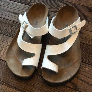 White Birki 's sandals